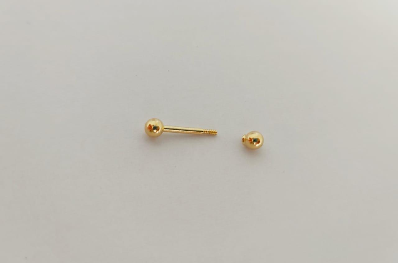 Piercing Tragus Cartilagem Orelha Hélix Em Ouro 18k