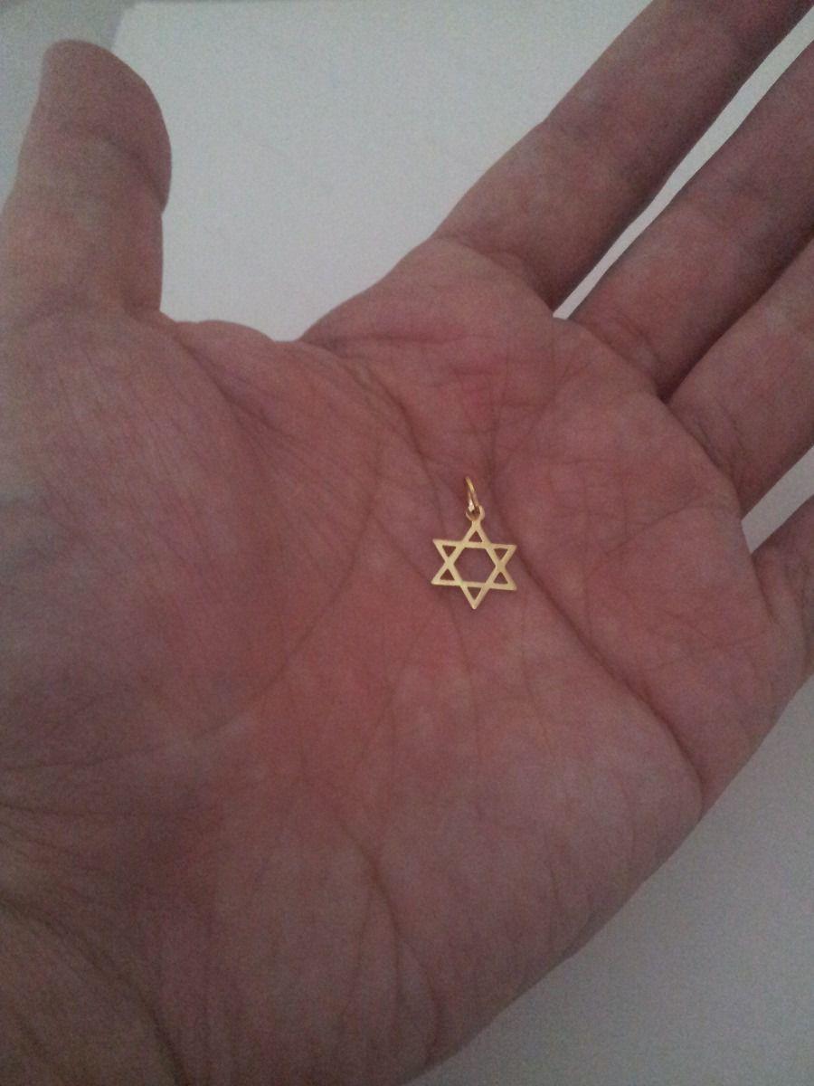 Pingente Estrela De Davi Pequena Em Ouro 18k-750