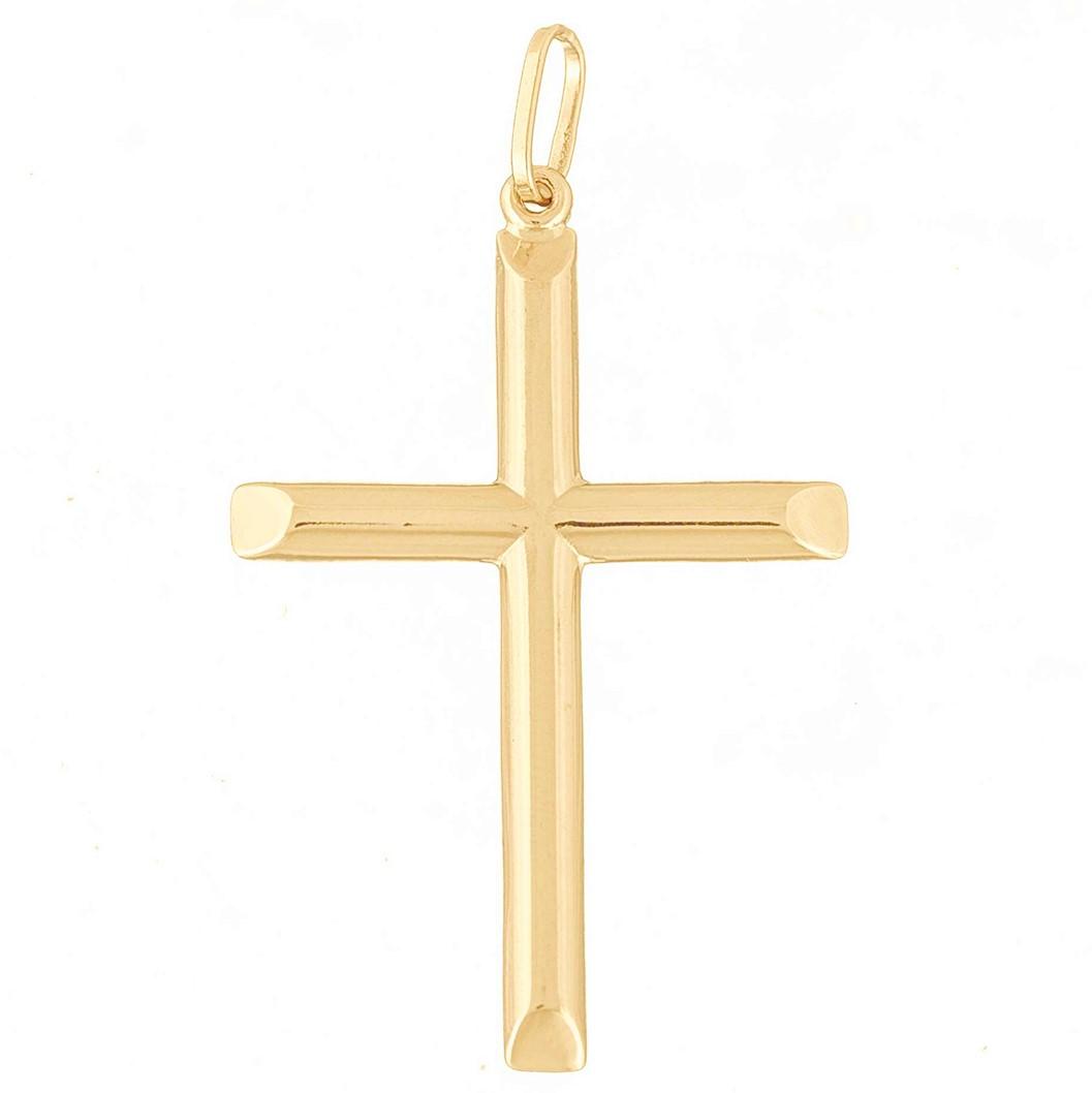 Pingente Masculino Cruz Crucifixo De Ouro 18k 750