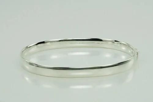 Pulseira Bracelete Prata 925 Feminino Grosso