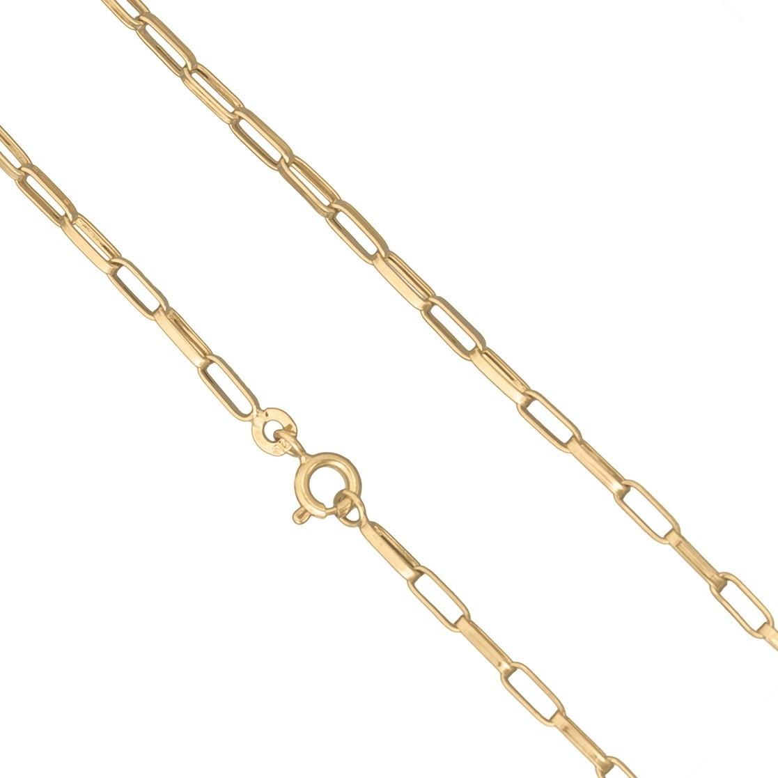Pulseira Masculina Ouro Amarelo Elo Cadeado Ouro 18k