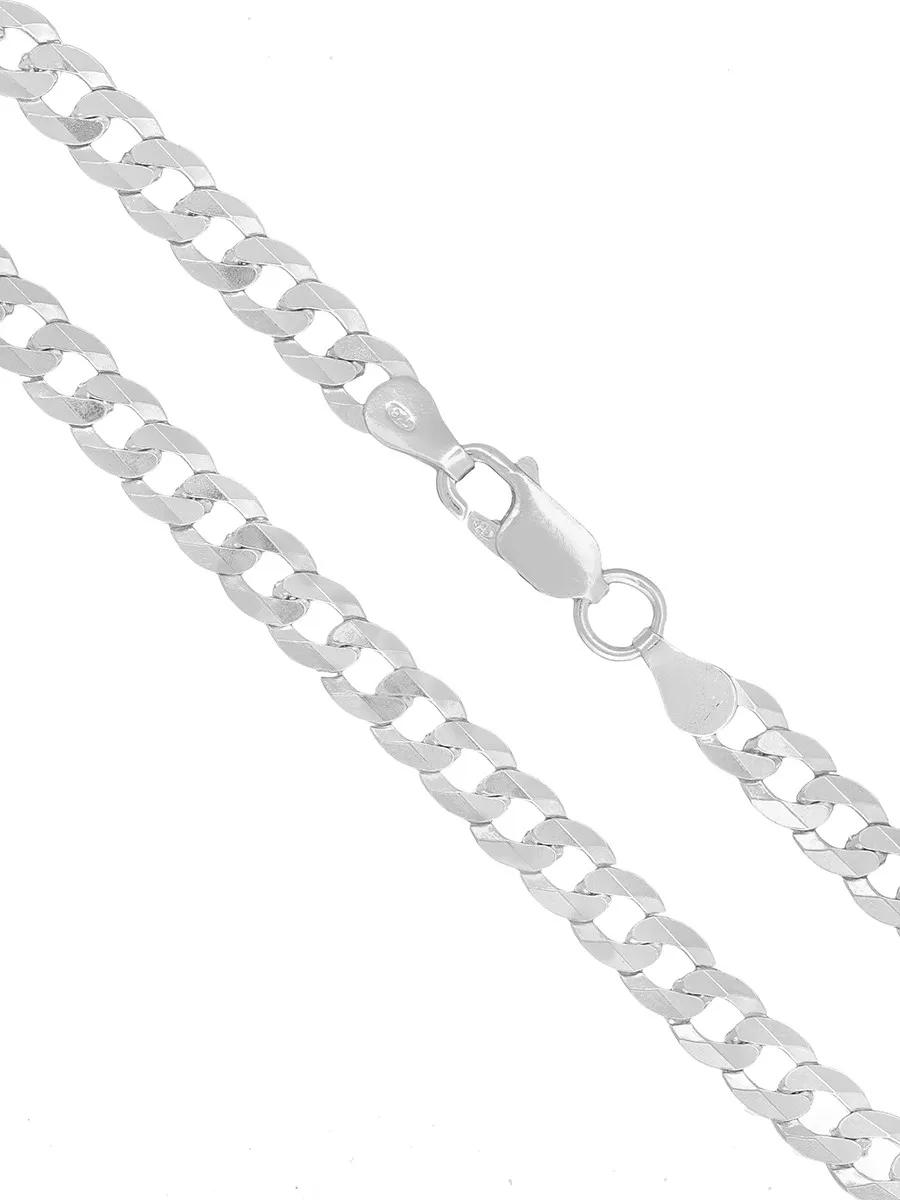 Pulseira Masculina Prata Maciça 925 Grumet 5mm