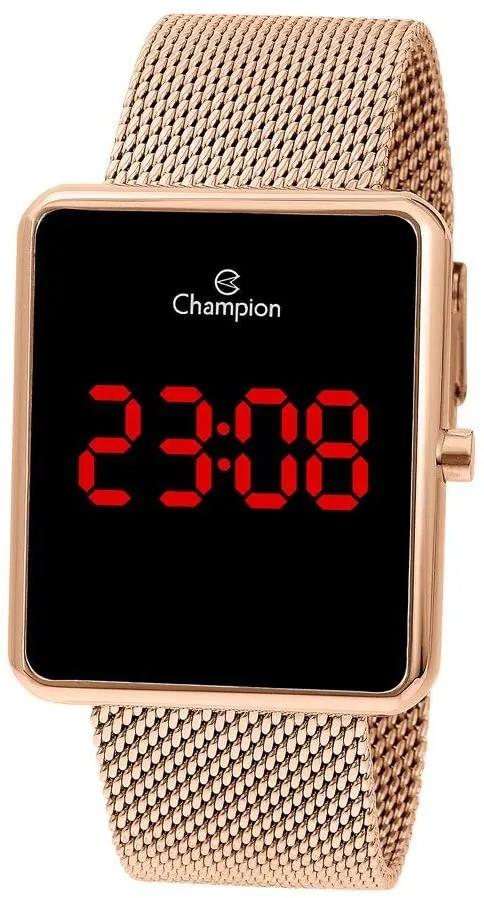 Relógio Champion Feminino Digital Rosê Quadrado CH40080H