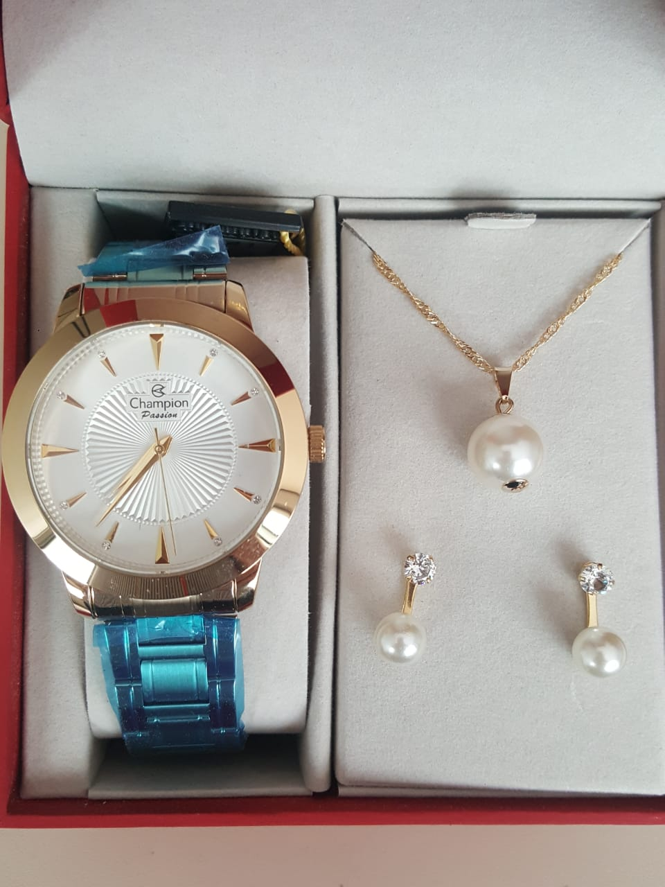 Relógio Feminino Champion Dourado CN29258C