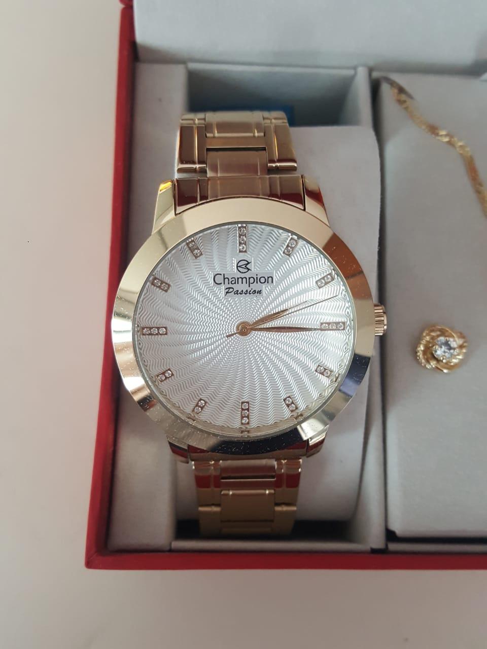 Relógio Feminino Champion Dourado CN29276B