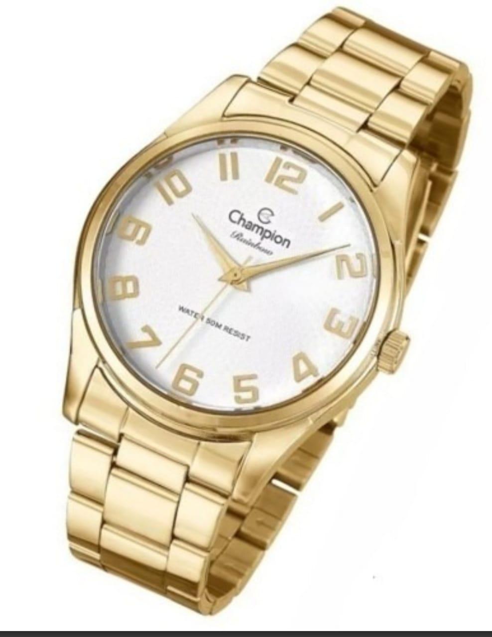 8f6b7453a04 Relógio Feminino Champion Dourado CN29883J - DR JOIAS