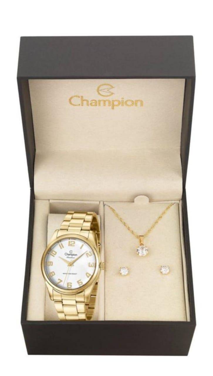 Relógio Feminino Champion Dourado CN29883J