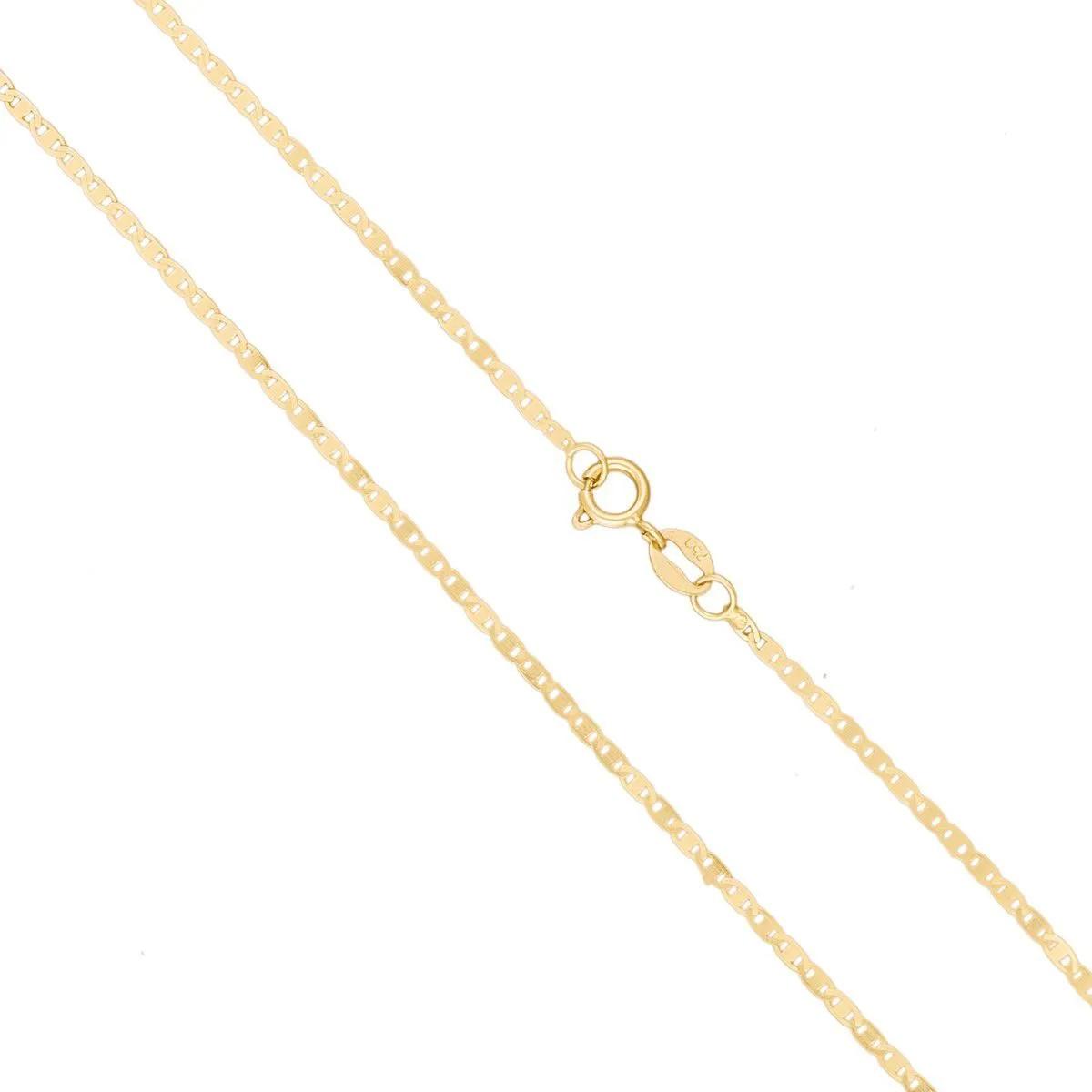 Tornozeleira Feminina Piastrine 24cm Ouro 18k 750