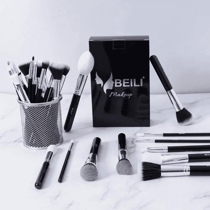 BEILI conjunto Completo Preto Pincéis de Maquiagem Profissional 30 peças
