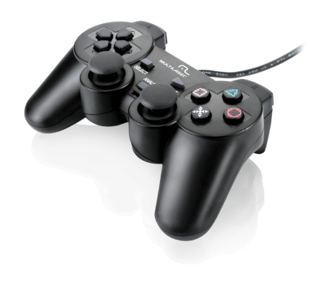 Controle Dualshock PS3/PS2/PC Multilaser - JS071
