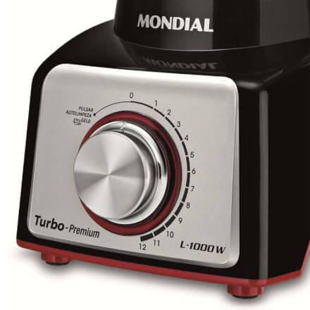 Mondial Liquidificador L1000 - Preto & Vermelho - 3L - 127V