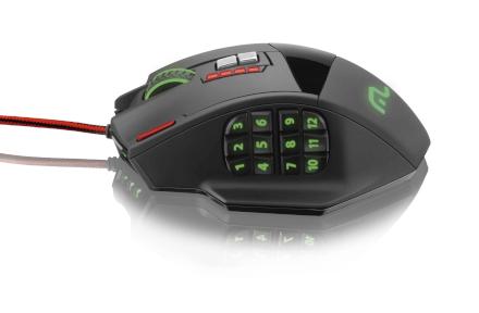 Mouse Gamer Laser 18 botões 4000dpi Preto USB Multilaser - M