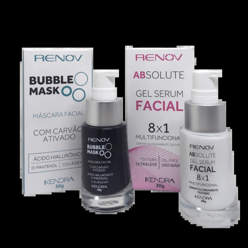 Kit Renov Bubble Mask + 8x1 Gel Serum Facial Absolute