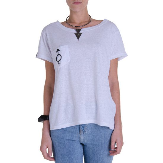 CAMISETA BOLSO BORDADO