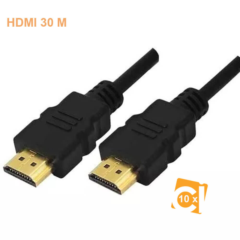 10 Cabos Hdmi 30 metros 2.0 4k Ethernet Ultra Hd 3d Booster