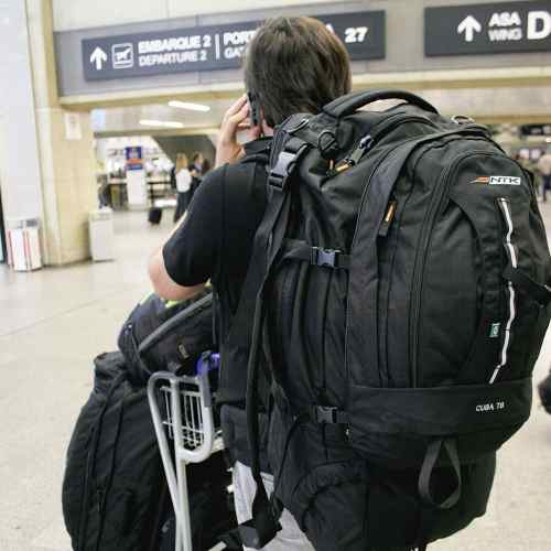 Mochila Mala Para Viagem 78 Litros Cuba Preta Nautika