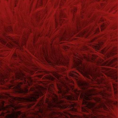 Tapete Sala Quarto 100 X 150 Spazio Vermelho Peludo Alto Macio Sultan