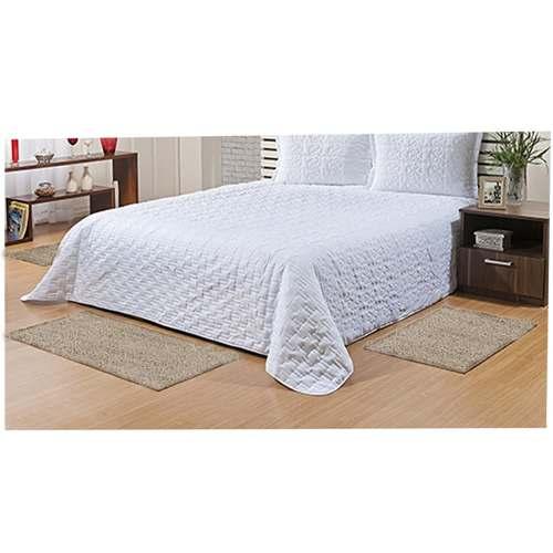 kit tapete quarto beira cama Classic trigo 3 peças