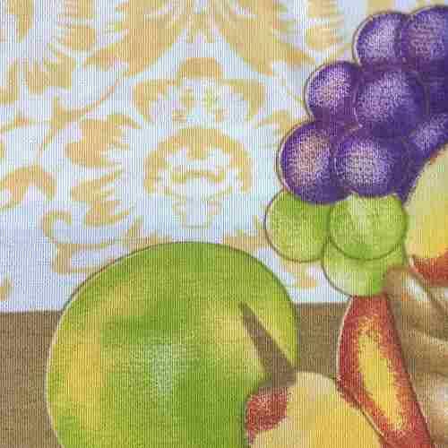 Toalha De Mesa Casa Alegre 2,20 X 1,45 Cesta De Frutas