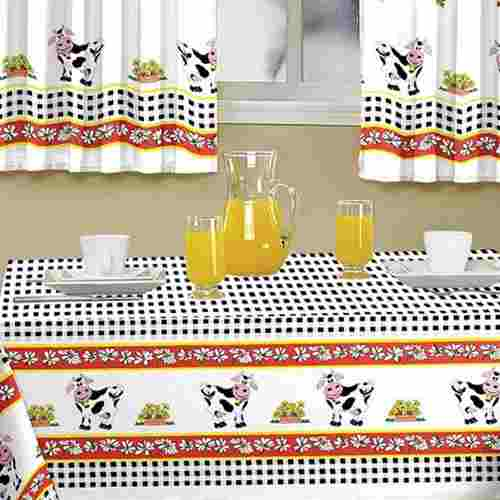 Toalha De Mesa Casa Alegre 1,40 X 1,45 Vaquinha