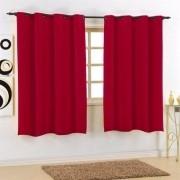 Cortina Sala 220 cm x 180 cm Granitê Vermelho Cereja Ilhoses