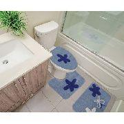 Kit Tapete Banheiro 3 Peças 100% Algodão Brunei Sultan