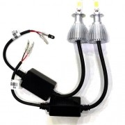 Par Lampadas Super Led Xenon H3 6000 k 4400 Lumens