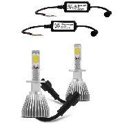 Par Lampadas Super Led Xenon H1 6000 k 4400 Lumens