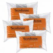 4 Travesseiros Sonhare Sultan 70 Cm X 50 Cm Conforto