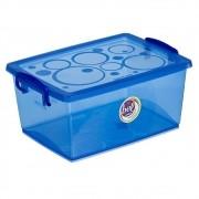 Caixa Organizadora Com Trava 30 L Azul Ordene