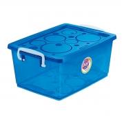 Caixa Organizadora Com Trava 7,5 L Azul Ordene