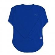 Camiseta Feminina com Proteção Solar UV 50+ Manga Longa Mullet Azul Aquarela Vitho