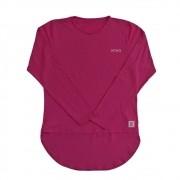Camiseta Feminina com Proteção Solar UV 50+ Manga Longa Mullet Pink Vitho