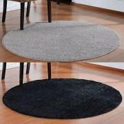 Conjunto 2 Tapete Redondo para Sala Classic 100 cm 1 Preto 1 Cinza Oasis