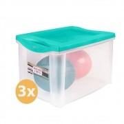 Conjunto 3 Caixas Organizadoras 30 Litros SanRemo Verde