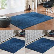 Conjunto Tapete Classic 1 150 x 200 e 2 66 x 120 Azul Jeans