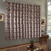 Cortina Jacquard Blackout Corta Luz 200 X 180 Chocolate