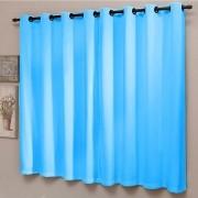 Cortina Sala 200 x 180 cm Blackout Liso PVC Azul Sultan