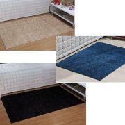 Kit 3 Passadeiras 50 x 100 cm Classic 1 Jeans 1 Preta 1 Bege
