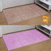 Kit 3 Tapetes Passadeira 50 x 100 cm Classic Oasis 2 Nude 1 Rosa