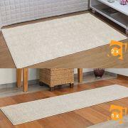 Kit 3 Tapetes Passadeira Classic 2 66 x 120 cm e 1 50 x 180 cm Perola