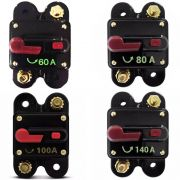 Kit 4 Disjuntores Automotivo Som 1 60a 1 80a 1 100a e 1 140a