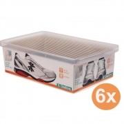 Kit 6 Caixa Organizadora Grande Ordene A11 X L23,5 X P35,5