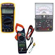 Kit Aperimetro Multimetro Digital 9205 Analogico 1000a 266c