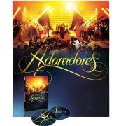 Kit Box Dvd e Cd Adoradores Ao Vivo Volume 1 2 E 3 Novo Tempo