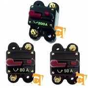 Kit de Disjuntor Proteção Automotivo 2 de 50a 2 de 80a 2 e de 200a GC