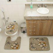 Kit Jogo Tapete Banheiro 3 Peças Royal Luxury Verde 101-2
