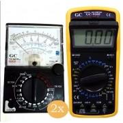 Kit Multimetro Digital Gc9205 E 2 Multimetro Yx-360trn-a