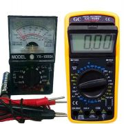 Kit Multímetro Digital Gc-9205 E Multimetro Analogico 1000a