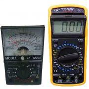 Kit Multímetro Digital Gc-9205 E Multímetro Analógico 1000a